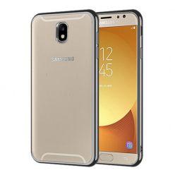 Samsung Galaxy J5 2017 - przezroczyste etui platynowane SLIM - Grafitowy.
