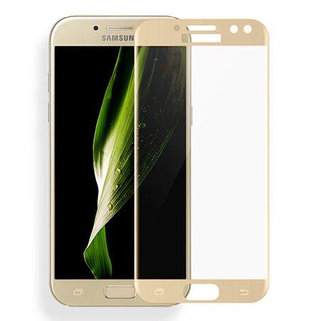 Galaxy J7 2017 - hartowane szkło 3D na cały ekran - Złoty.