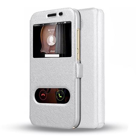Etui na Huawei Y6 II Compact - Flip Quick View z klapką dwa okienka - Biały.