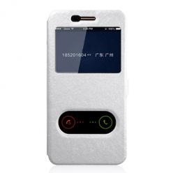 Etui na LG K10 2017 - Flip Quick View z klapką dwa okienka - Biały.