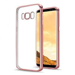 Etui na Samsung Galaxy S8 Plus - silikonowe platynowane SLIM - Różowy.