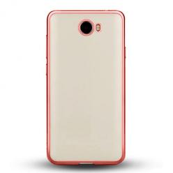 Etui na Huawei Y6 II Compact - silikonowe platynowane SLIM - Różowy.