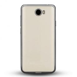 Etui na Huawei Y6 II Compact - silikonowe platynowane SLIM - Grafitowy.
