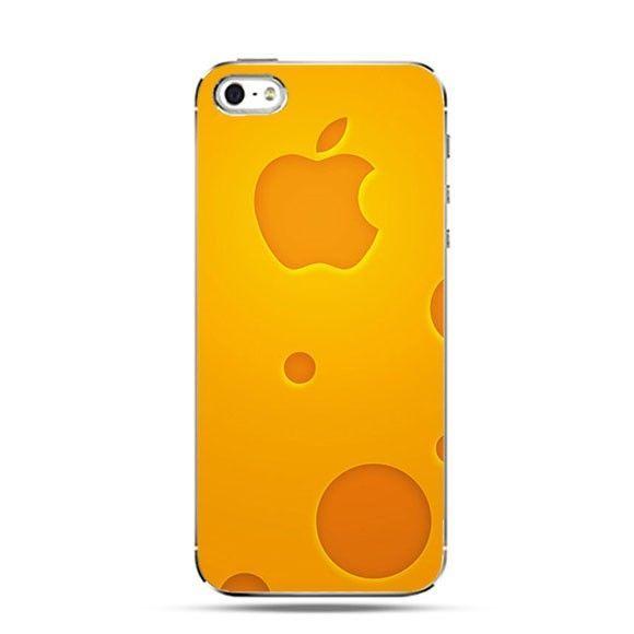 Etui pomarańcze logo Apple