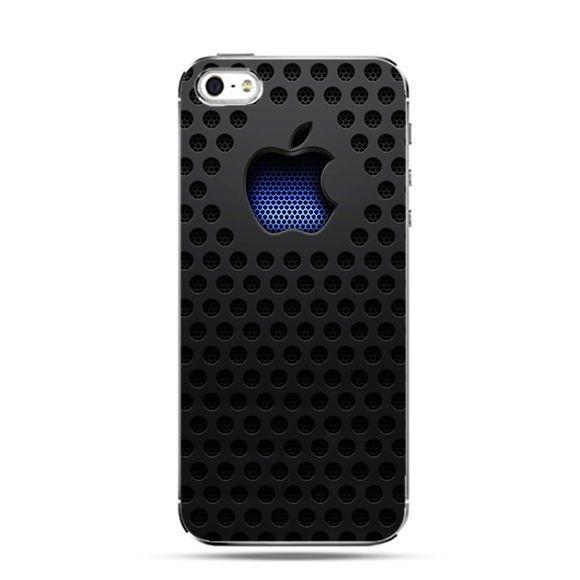 Etui czarny mesh logo Apple