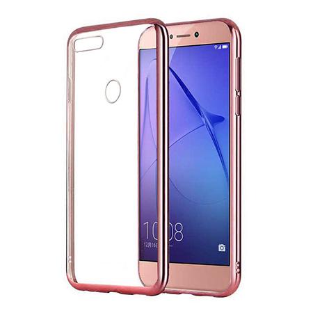 Etui na Huawei P Smart - silikonowe platynowane SLIM - Różowy.