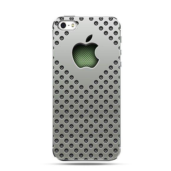 Etui srebrny mesh logo Apple