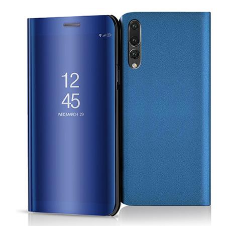 Etui na Huawei P20 Pro - Flip Clear View z klapką - Niebieski.