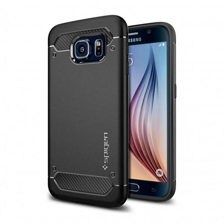 Etui na Samsung Galaxy S6  Spigen Rugged Armor - Czarny