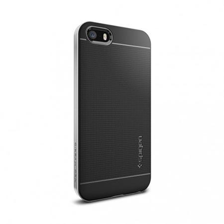 Etui Spigen na iPhone 5 / 5s Neo Hybrid - Srebrny.