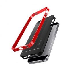 Etui Spigen na iPhone SE Neo Hybrid - Czerwony