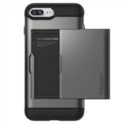 Etui Spigen na iPhone 7 Plus - Slim Armor Srebrny