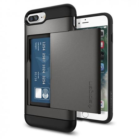 Etui Spigen na iPhone 8 Plus - Slim Armor Srebrny