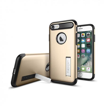 Etui Spigen na iPhone 8 - Tough Armor Złoty