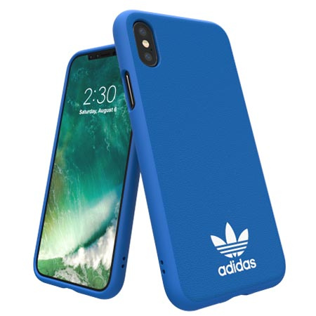 Etui Adidas na iPhone X - Moulded Case Niebieski
