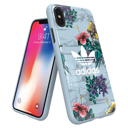 Etui Adidas na iPhone X - Floral Case Kwiaty