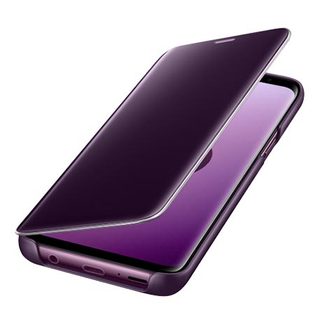 Etui na Samsung Galaxy S9 - Clear View Liliowy