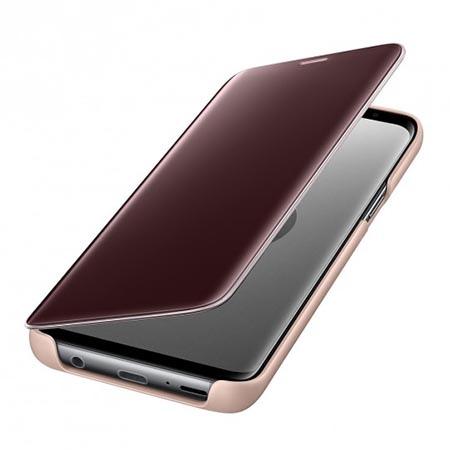 Etui na Samsung Galaxy S9 - Clear View Złoty