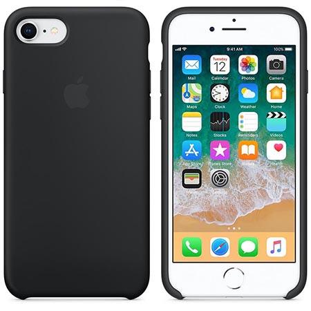 Oryginalne etui Apple na iPhone 7 Silicone Case - Czarny
