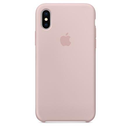 Oryginalne etui Applena iPhone X Silicone Case - Różowy