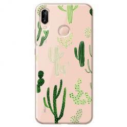 Etui na Huawei P20 Lite - Kaktusowy ogród.