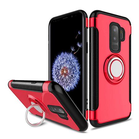 Etui na Samsung Galaxy S9 - Pancerne Magnet Ring - Czerwony.