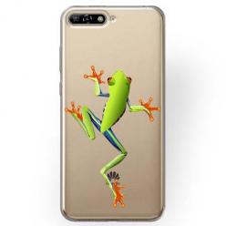 Etui na Huawei Y6 2018 - Zielona żabka.
