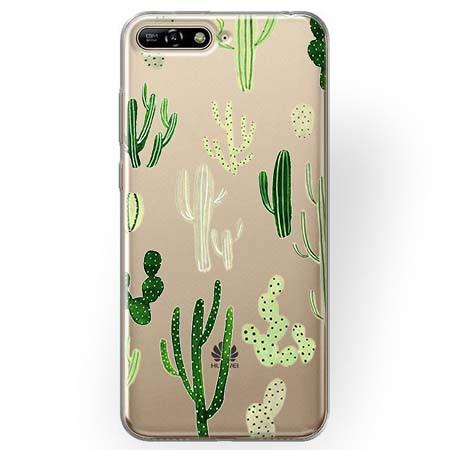Etui na Huawei Y6 2018 - Kaktusowy ogród.