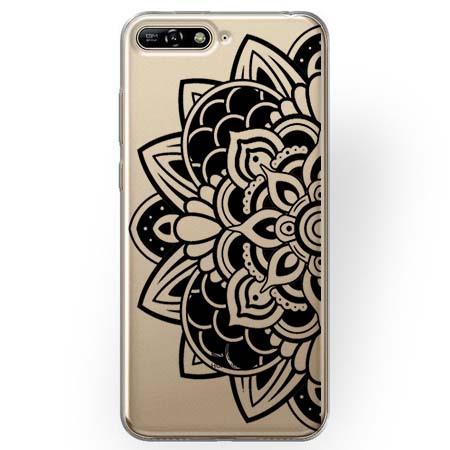 Etui na Huawei Y6 2018 - Kwiatowa mandala