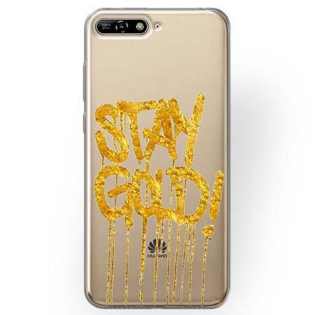 Etui na Huawei Y6 2018 - Stay Gold.