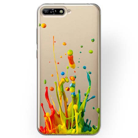 Etui na Huawei Y6 2018 - Kolorowy splash