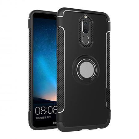 Etui na Huawei Mate 10 Lite - Pancerne Magnet Ring - Czarny.