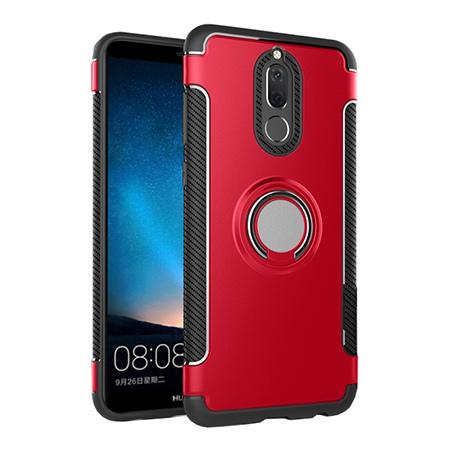 Etui na Huawei Mate 10 Lite - Pancerne Magnet Ring - Czerwony.