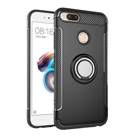 Etui na Xiaomi Mi A1 - Pancerne Magnet Ring - Czarny.