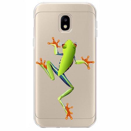 Etui na Samsung Galaxy J3 2017 - Zielona żabka.