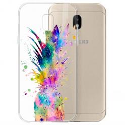 Etui na Samsung Galaxy J3 2017 - Watercolor ananasowa eksplozja.