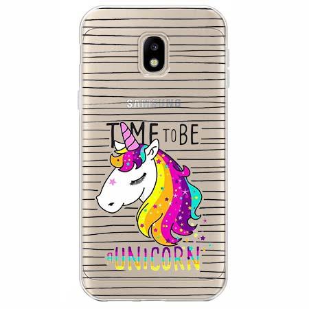 Etui na Samsung Galaxy J3 2017 - Time to be unicorn - Jednorożec.