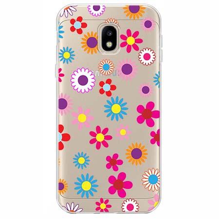 Etui na Samsung Galaxy J3 2017 - Kolorowe stokrotki