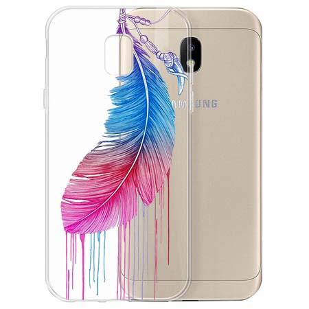 Etui na Samsung Galaxy J3 2017 - Watercolor piórko.