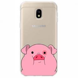 Etui na Samsung Galaxy J3 2017 - Słodka różowa świnka