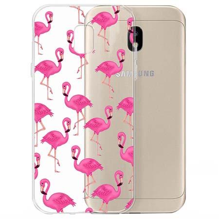 Etui na Samsung Galaxy J3 2017 - Różowe flamingi.