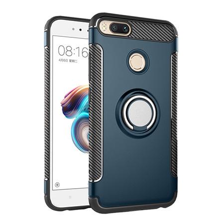 Etui na Xiaomi Mi 5x - Pancerne Magnet Ring - Niebieski stalowy.