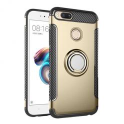 Etui na Xiaomi Mi 5x - Pancerne Magnet Ring - Złoty.