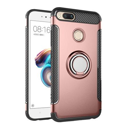 Etui na Xiaomi Mi 5x - Pancerne Magnet Ring - Różowy.