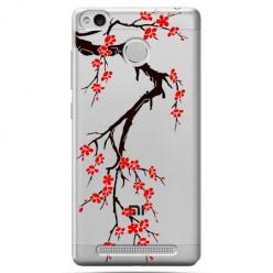 Etui na Xiaomi Redmi 3S - Krzew kwitnącej wiśni.
