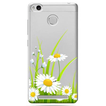 Etui na Xiaomi Redmi 3S - Polne stokrotki.