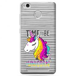 Etui na Xiaomi Redmi 3S - Time to be unicorn - Jednorożec.