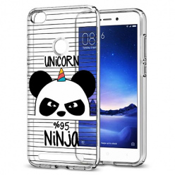 Etui na Xiaomi Redmi 3S - Ninja Unicorn - Jednorożec.