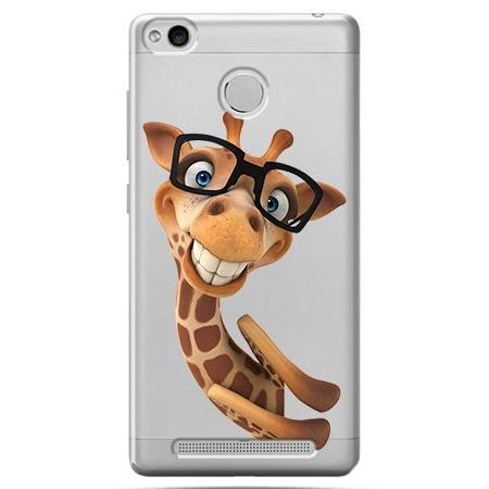 Etui na Xiaomi Redmi 3 Pro - Wesoła żyrafa w okularach