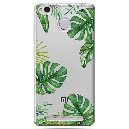 Etui na Xiaomi Redmi 3 Pro - Egzotyczne roślina monstera.